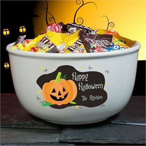 Personalized Halloween Candy Bowl
