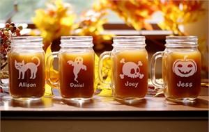 Personalized Halloween Mason Jar