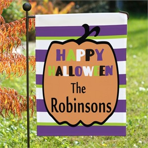 Personalized Happy Halloween Flag