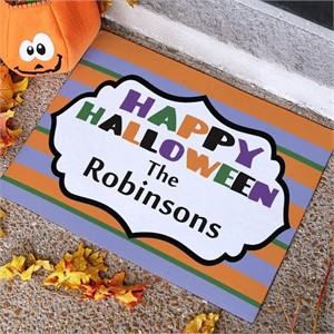 Personalized Happy Halloween Welcome Mat 18x24