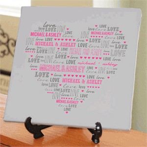 Personalized Heart Canvas
