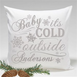 Personalized Holiday Throw Pillows