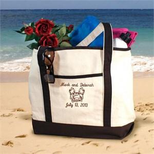 Personalized Honeymoon Beach Tote
