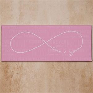 Personalized Infinity Symbol Wedding Canvas