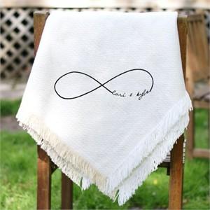 Personalized Infinity Symbol Wedding Throw