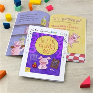 Personalized Is It My Birthday Yet Countdown Book