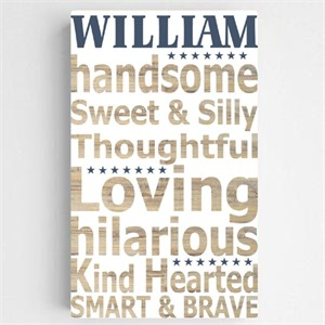 Personalized Kids Definition Canvas Sign - Boy