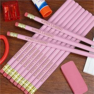 Personalized Lavender Pencils