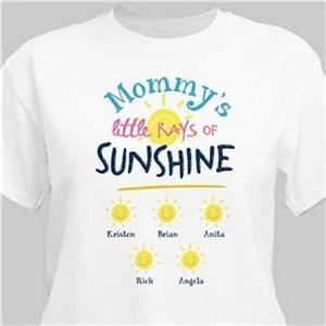Personalized Little Rays Of Sunshine T-Shirt