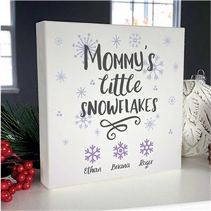 Personalized Little Snowflakes Table Top Sign