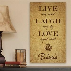 Personalized Live, Laugh, Love Wall Art - Fleur