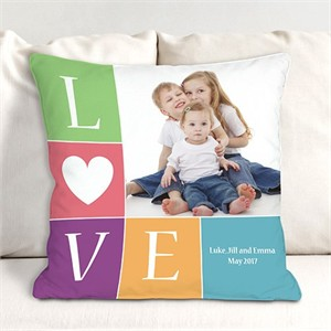 Personalized Love Photo Throw Pillow
