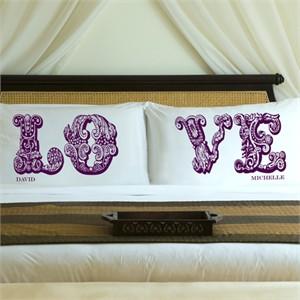 Personalized Love Pillow Case Set