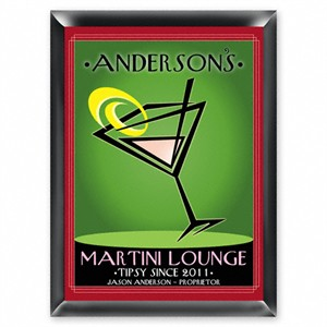 Personalized Martini Lounge Sign - Cosmo