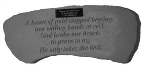 Personalized Memorial Bench A heart of gold