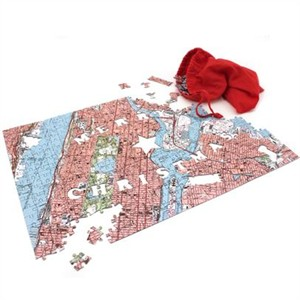 Personalized Merry Christmas Map Puzzle