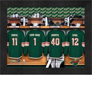 Personalized Minnesota Wild Locker Room Print 12 x 16