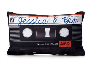 Personalized Mix Tape Pillow