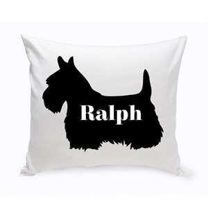 Personalized Modern Dog Silhouette Throw Pillow