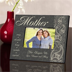 Personalized Mother Frame - Pretty Paisley