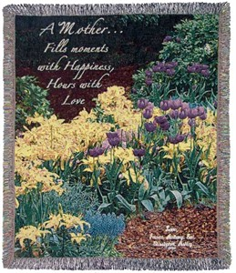 Personalized Mother�Tapestry Throw - Garden