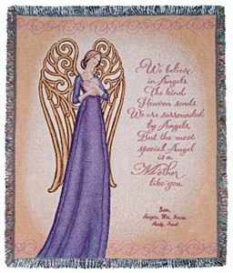 Personalized Mother Throw - Angel