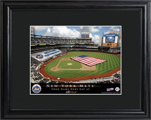 Personalized New York Mets Stadium Print