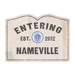 Personalized Now Entering Door Mat