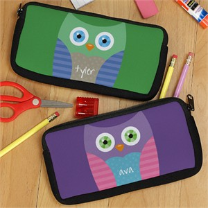 Personalized Owl Pencil Case