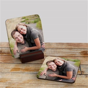 Personalized Photo Coaster Set