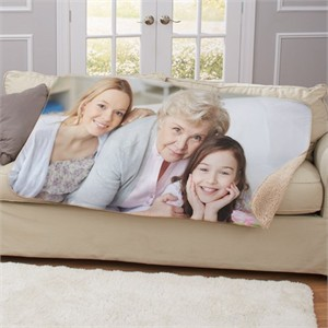 Personalized Photo Sherpa Throw