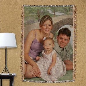 Personalized Photo Tapestry Throw