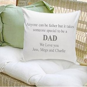 Personalized Pillow - Anyone Can Be a Father Grey