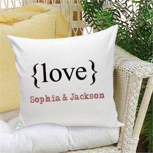 Personalized Pillow - Typeset Love