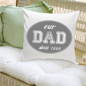 Personalized Pillow - Varsity Since Grey