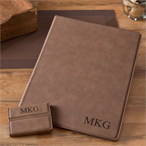 Personalized Portfolio and Business Card Case Set
