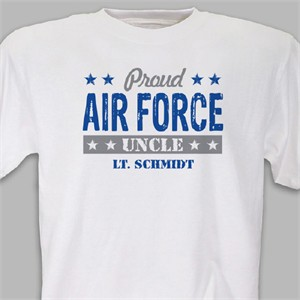 Personalized Proud Military T-shirt - Air Force
