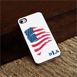 Personalized Proud to Be an American iPhone Cover