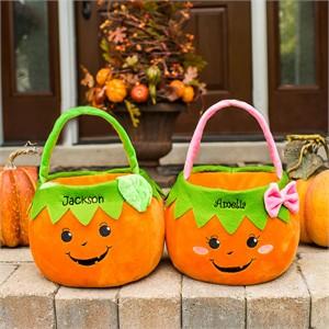 Personalized Pumpkin Trick or Treat Bag