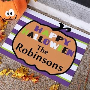 Personalized Pumpkin Welcome Mat 18x24
