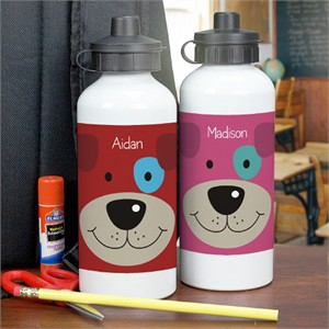 Personalized Puppy Water Bottle