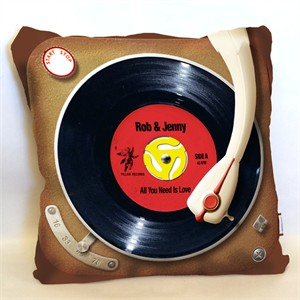 Personalized Record Player Pillow
