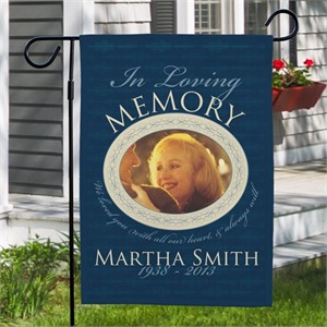 Personalized Rememberance Photo Garden Flag