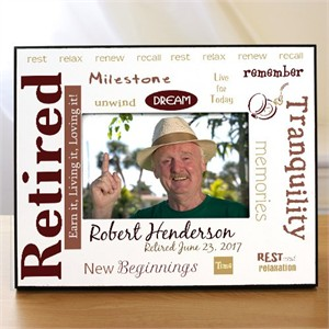 Personalized Retirement Frame - Rest & Relaxation