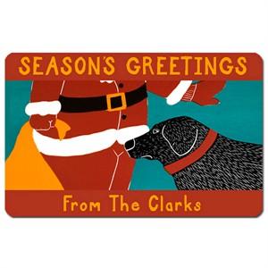 Personalized Santa Seasons Greetings Door Mat