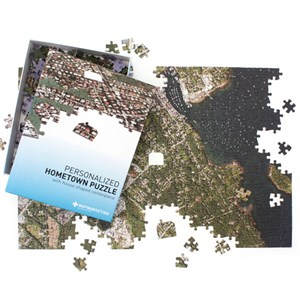 Personalized Satellite Image Hometown Puzzle