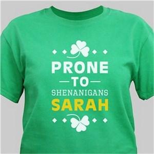 Personalized Shenanigans Green Irish T-Shirt