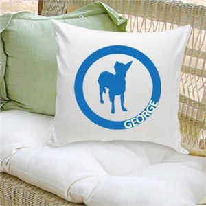 Personalized Silhouette Dog Throw Pillow