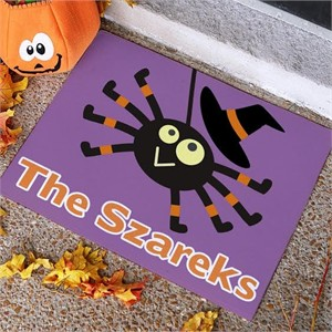 Personalized Spider Halloween Welcome Mat - Small