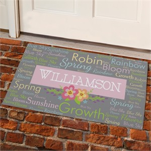 Personalized Spring Doormat